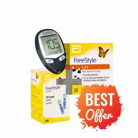Freestyle Glucose Monitor with strips and Lancets Pack