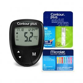 Contour Plus Glucose Monitor + 50 strips + 25 lancets