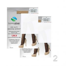 Bonny Silver Lady Long Socks 1+1 Offer