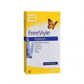 Freestyle Optium Blood Glucose 50 Test Strips